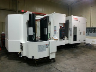 machining center pallet. manitowoc has just added another \u201cstate of the art\u201d mazak hcn5000 horizontal machining center. this machine a cat40 18,0000 rpm spindle with 6 pallet center t